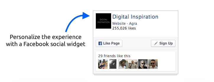 facebook social widget