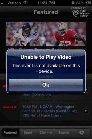 mobile videos error